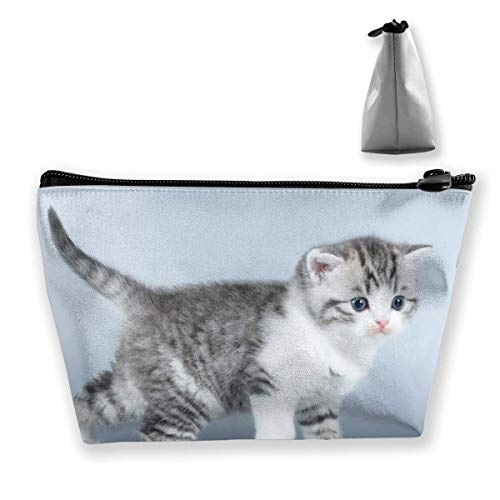 Photographed Cat Star Makeup Bag Large Trapezoidal Storage Travel Bag Wash Cosmetic Pouch Pencil Holder Zipper Waterproof