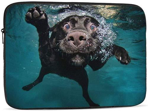 Swimming Dog Laptop Sleeve Bag - Evecase 15″ Neoprene Universal Sleeve Zipper Sleeve Cover Case for Notebook