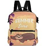 Oarencol Summer Time Sloths Palm Tree Mochila animal hojas tropicales libro bolsa de viaje senderismo camping portátil mochila
