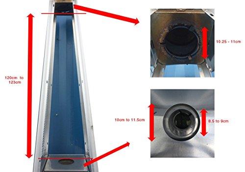 Glas Röhre Ersatz für Pyramid Gas Terrassenstrahler; - 2
