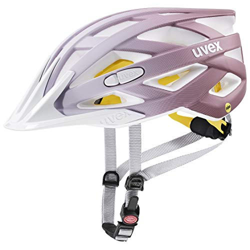 uvex Unisex– Erwachsene i-vo cc MIPS Fahrradhelm, white - rosé mat, 56-60 cm