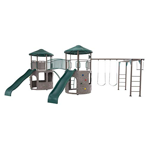 Lifetime 90966 Double Adventure Tower with Monkey Bars