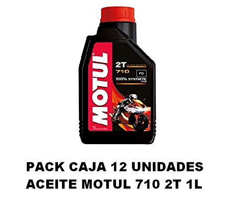 Pack Motul 710 - Set 12 confezioni di olio motore, 2T, unità da 1 litro
