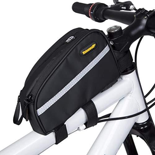 Weerstand Frame Tas Dubbele Rits Ontwerp voor Fiets Accessoires Bike Front Tube Tas Waterdichte Fiets Frame Tas