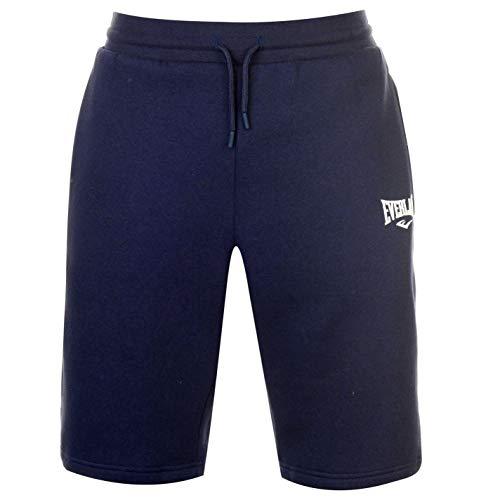 Everlast Uomo Pantaloncini Sportivi Shorts in Pile Blu Marino M