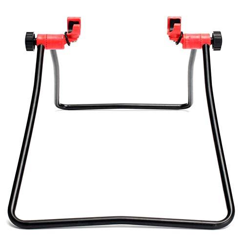 Fauge Soporte Plegable Vertical de Tres Esquinas de Bicicleta de Montaaa Soporte de Accesorios de Bicicleta para Ajustar la Limpieza ReparacióN de Bicicletas