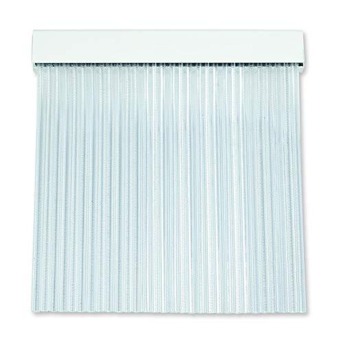 Cortinas Exterior Puerta | Material Plastico PVC y Barra Aluminio | Ideal para Terraza y Porche | Antimoscas | Transparente | 210 * 90