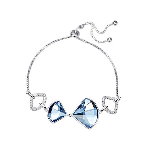 Deqiade Swarovski-armband voor dames, met kristallen van Swarovski, hypoallergeen, luxe sieraden, voor moeder, vrouw, vriendin.