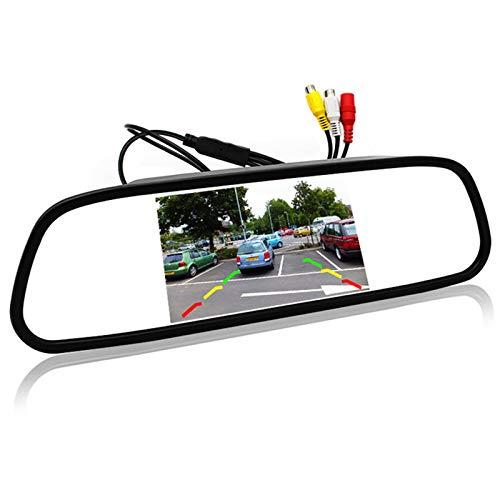 WOVELOT 5 Pouce Numerique Couleur Tft 800 x 480 LCD Voiture de Parking Moniteur Miroir 2 Entree Video pour Vue Arriere Camera Systeme D'Aide Au Stationnement