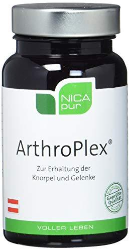 NICApur ArthroPlex mit Glukosamin und Chondroitin sowie Vitamin C, E und den Spurenelementen Zink, Mangan und Selen für die Erhaltung der Gelenkfunktionen Reinsubstanz ohne Zusatzstoffe 60 Kapseln