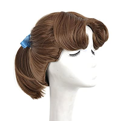 Yuehong Princess Wig Brown Ponytail Cosplay Animation Wigs For Women Party Costume