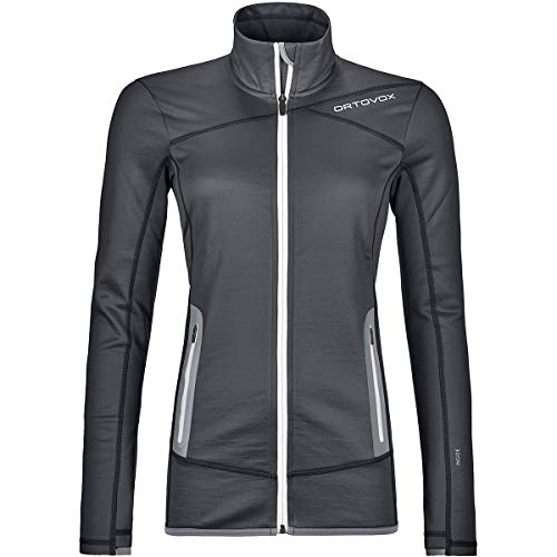 ORTOVOX Damen Fleece Jacke, Black Steel, S
