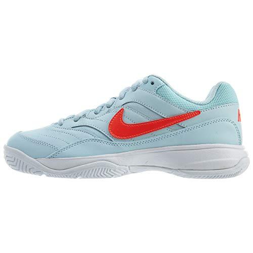 Nike Wmns Court Lite, Zapatillas de Tenis para Mujer, Multicolor (Topaz Mist/Bright Crimson/White 401), 38 EU
