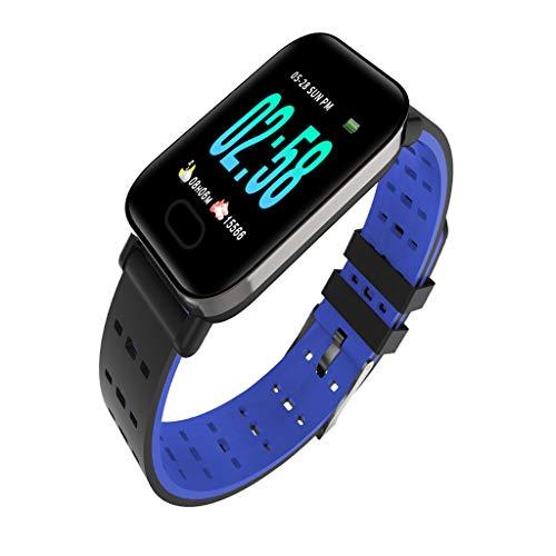 Sharplace Smart Band Reloj Pulsera Pulsera Rastreador de Ejercicios Monitor de Sueño - Púrpura, Tal como se Describe