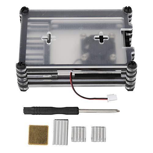 Wosune Caja Duradera y fácil de conexión Caja única de Cuatro disipadores de Calor para la Oficina en casa