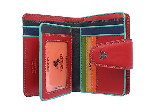 Visconti Spectrum-Kollektion Poppy Geldbörse Geldbeutel Leder, mit Laschenverschluss, RFID SP31 Rot