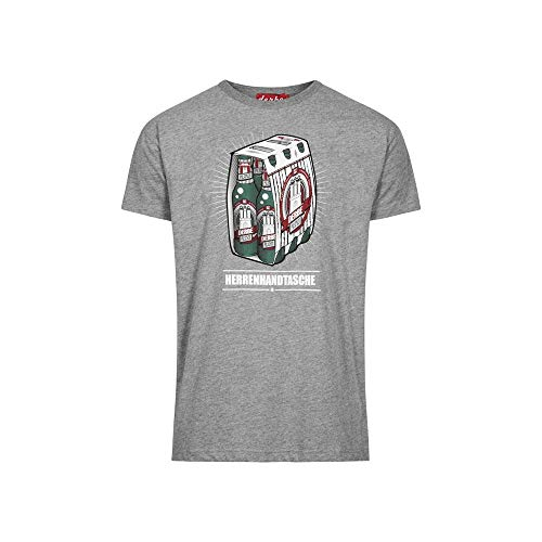 Derbe Männer T-Shirt Herrenhandtasche Reloaded grau - S