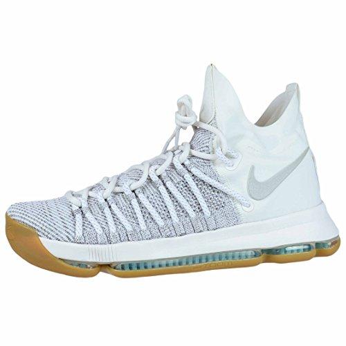 Nike Men's Zoom KD9 Elite Pale Grey/Pale Grey/Ivory Basketball Shoe 8.5 Men US