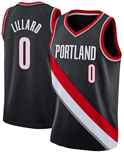 XXMM Camiseta De Baloncesto para Hombre - NBA Portland Trail Blazers # 0 Damian Lillard Tops Transpirable Tops Sin Mangas Jersey Competición De Deportes Jersey, Cómodo para Usar,M(170~175cm)
