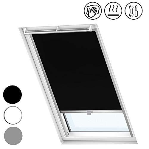 Froadp S06/606 Verdunkelungs Rollos Sonnenschutz Thermorollos Hitzeschutz Velux Jalousien für Dachfenster Fensterdekoration Springrollos GDL/GGL/GGU/GPL/GPU/GXU(97,3×94cm)
