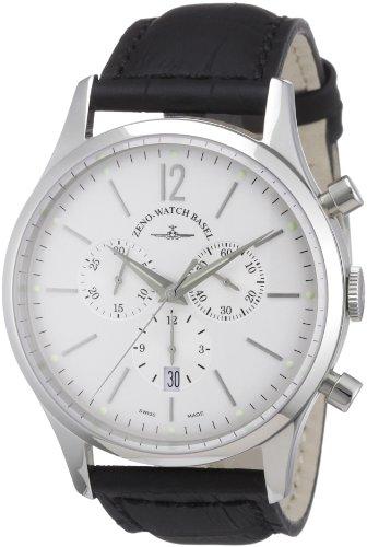 Zeno Watch Basel 6564-5030Q-i2 - Reloj analógico de Cuarzo para Hombre con Correa de Piel, Color Negr