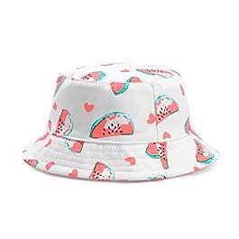 Happy Cherry Chapeau de Soleil Bébé Fille Garçon en Coton Respirant, Cap d'été Pliable Bob Parasol Taille de Tête 46…