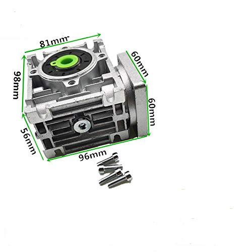 DGPOAD 5: 1 bis 80: 1 Schneckengetriebe RV030 Schneckengetriebe Drehzahlminderer Mit Wellenhülsenadapter Für 8 mm Eingangswellenverhältnis 5,60X60 Für NEMA23
