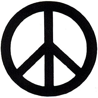 Peace Resource Project Black Over White Peace Sign - Small Magnetic Bumper Sticker/Decal Magnet (3
