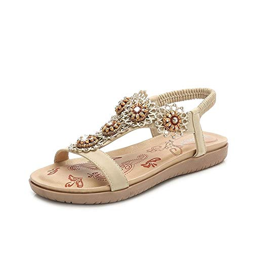 LFWB sandalias clásicas para mujer casual liviano Sandalias for las mujeres cómoda sandalia de la plataforma Zapatos de playa del verano Viajes casual sandalias Bohemia mujeres de las sandalias sandal