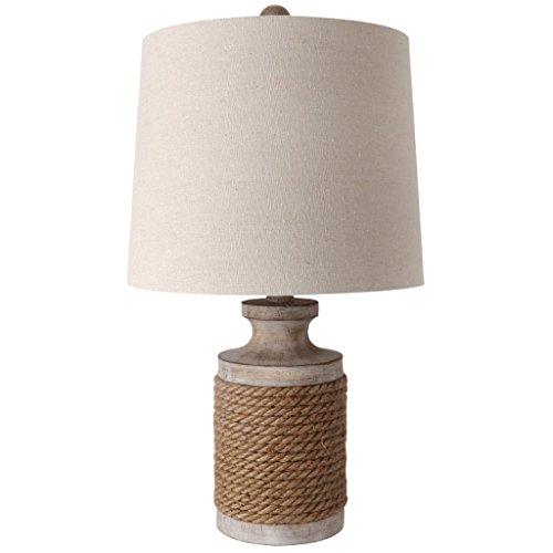 NJ tafellamp- Europese retro industriële touw bureaulamp slaapkamer bedlampje bar tafellamp woonkamer kunst dorp lampen