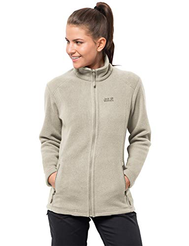 Jack Wolfskin Damen Midnight Moon Women Fleecejacke, White Sand, M