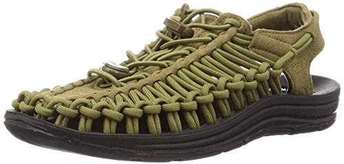 Keen Women's Uneek Sandal, Army/Black, 9