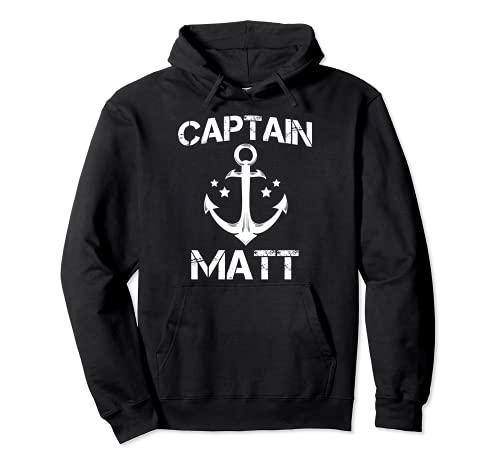 CAPTAIN MATT - Regalo de cumpleaños personalizado para barco Sudadera con Capucha