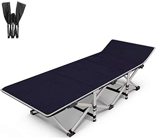 Multifunctionele opklapbare bed/tuin ligstoel/draagbare strandstoel/kampeerbed, met kussens, dikke koeien, kantoor/tuin/buiten, ondersteuning 200Kg,A