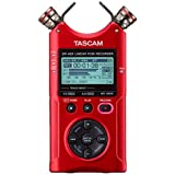Tascam DR-40X Four-Track Digital Audio Recorder and USB Audio Interface, Red