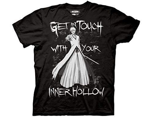 Ripple Junction Bleach Adult Unisex Your Inner Hollow Heavy Weight 100% Cotton Crew T-Shirt MD Black