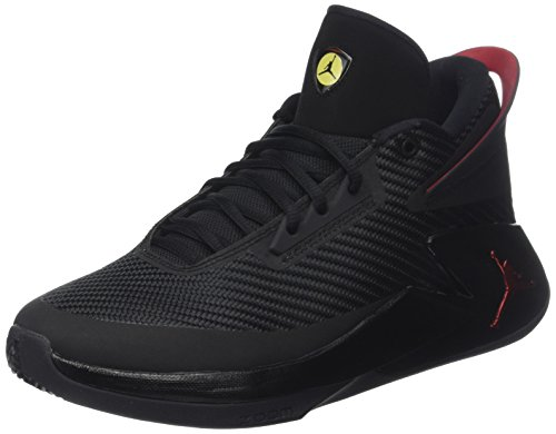 Nike Jordan Fly Lockdown, Zapatos de Baloncesto Hombre, Negro (Black/Varsity Red/Dandelion 012), 52.5 EU
