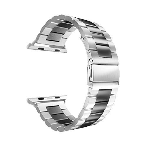 Anya - Correa de Repuesto de Acero Inoxidable para Reloj Apple Watch de 38 mm, 40 mm para Hombre y Mujer, Reloj Inteligente Ajustable para iWatch Series 1, 2, 3 y 4