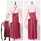 Hfeng Fate Grand Order Sakura Saber Kimono Cosplay Costume for Women Girls Halooween Party Costumes (Size : M, Source : Fate Grand Order)