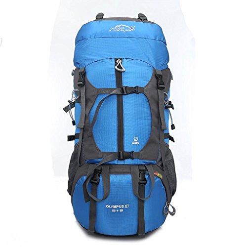 Local Lion borsa zaino unisex da spalla outdoor campeggio escursionismo viaggio 65L blu