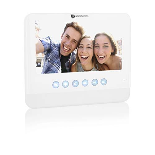 Smartwares DIC-22202 Video-Gegensprechanlage – 720p – 7 Zoll LCD-Monitor - Erweiterung für DIC-22212 und DIC-22222