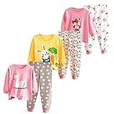 XM-Amigo Juego de ropa interior térmica para bebé o niña, 3 piezas, ropa interior térmica para invierno, Mädchen02., 6-12 Meses