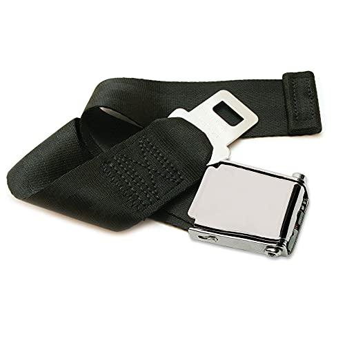 Adjustable Airplane Seat Belt Extender with Carry Case - Fits All of Airlines Except Southwest - E4 Safety Certified