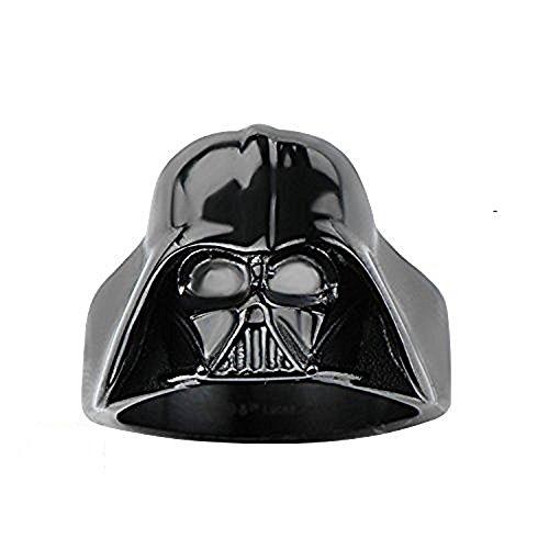 Disney Star Wars Jewelry - Anillo de acero inoxidable 3D para hombre, diseño de Darth Vader