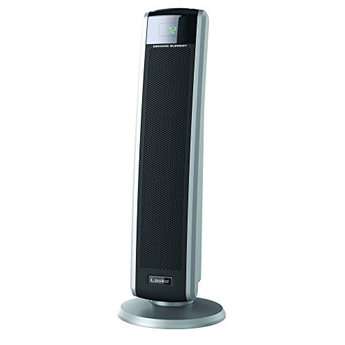 Lasko 5586 Digital Ceramic Tower Heater with Remote, Dark Grey Heater Lasko Space