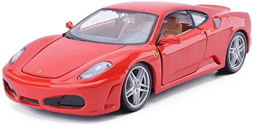 JPVGIA Modelo de coche Ferrari F430 1,24 juguetes adornos deportivos coche colección joyería 19x8x5cm (color: rojo)