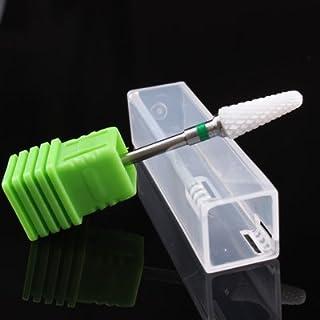 Generic C: TocassJo Tapered Ceramic Bit White Nail Drill Bit Ceramic Cutters For Nail Drill Machine Electric Manicure Dril...