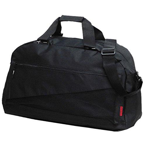 BODY WOLF 2WAY ボストンバッグ メンズ レディース トラベルバッグ スポーツバッグ 旅行バッグ ブラック 黒