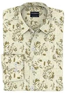 Tailorman Light Beige Floral Print Shirt