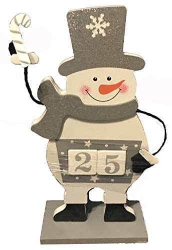 Changing Seasons Christmas Holiday Countdown Calendar Silver Snowman